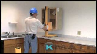 Commercial kitchen cabinet installation by KMate