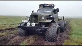 Russian monsters off-road Siberia