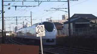 常磐線 E657系K12編成 2M 特急ひたち2号 品川 行 岩間~友部 野球場踏切 通過 2019.11.16
