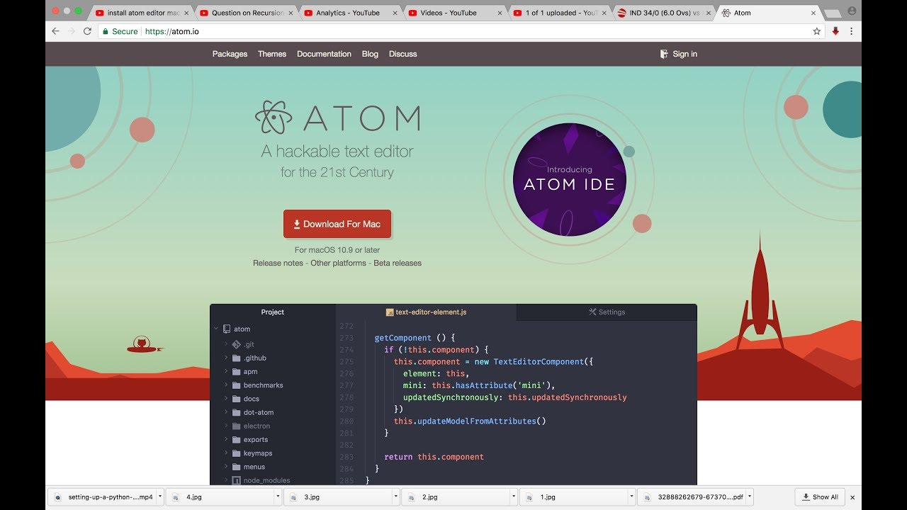 How to run Python Program in Atom Editor