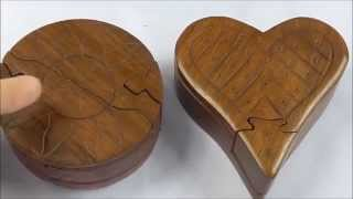 Handmade Indian Puzzle Boxes with Hidden Compartment