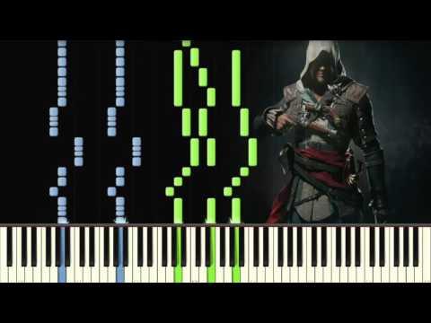 Assassin's Creed IV Black Flag - Main Theme - Piano tutorial (Synthesia)