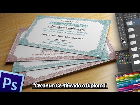 Crear un Certificado o Diploma en Photoshop.