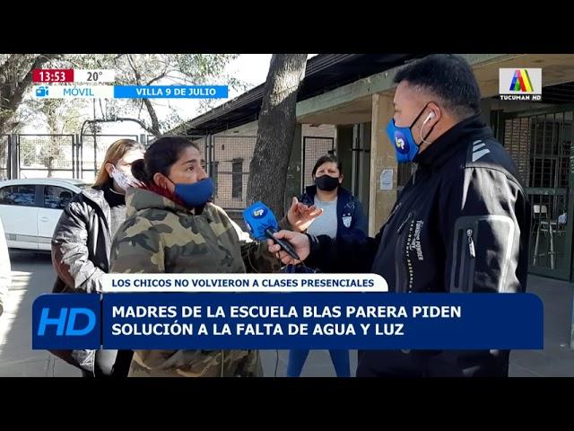 Madres de la escuela Blas Parera piden solución a la falta de agua y luz