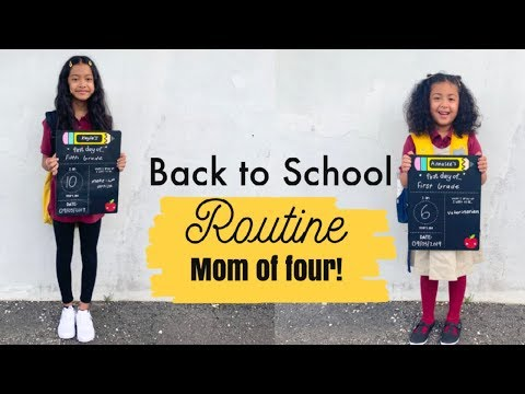 FIRST DAY OF SCHOOL MORNING ROUTINE 2019! FIRST& FiFTH GRADE