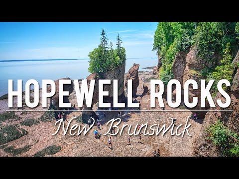 THE HOPEWELL ROCKS - NEW BRUNSWICK   CANADA 150th CELEBRATIONS