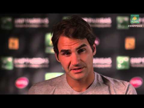 Roger Federer interview - postmatch vs Jack Sock Indian Wells 2015