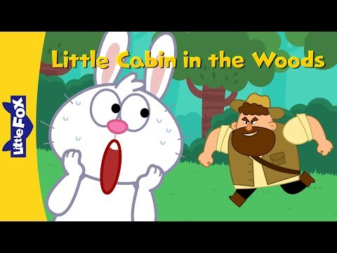 Little Cabin In The Woods | Nursery Rhymes | Classic | Little Fox | Animated Songs For Kids