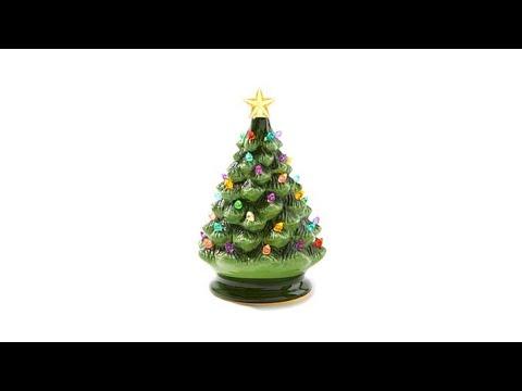 Winter Lane Classic Ceramic Musical Christmas Tree