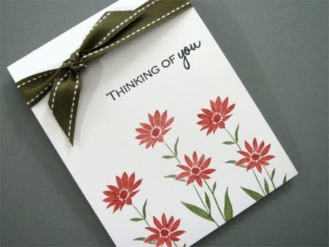Hand made thinking of you card.