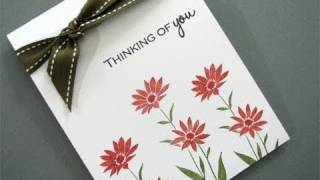 Clean and Simple Thinking of you card