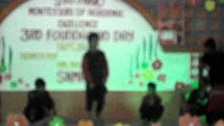 junior manuevers dance in sto nino montessori school foundation day...