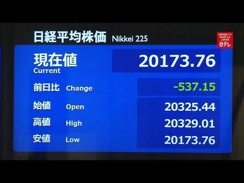 Nikkei sinks, yen strengthens