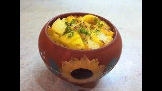 Картошка в горшочках (горшочке) с мясом - Potatoes with pork baked in a pot