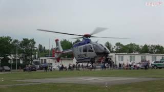 Start und Showeinlage Polizei Hubschrauber Sachsen