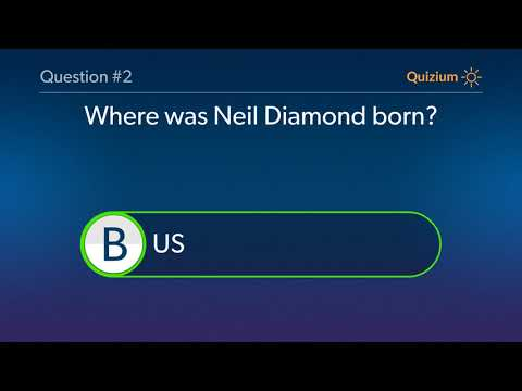 Neil Diamond Quiz   Where was Neil Diamond born? and more questions