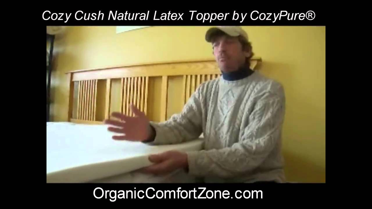 Cozy Cush Natural Latex Mattress Topper Youtube