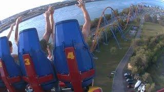 5 minutes de montagnes russes / of Roller Coaster @ La Ronde de Montréal, Canada