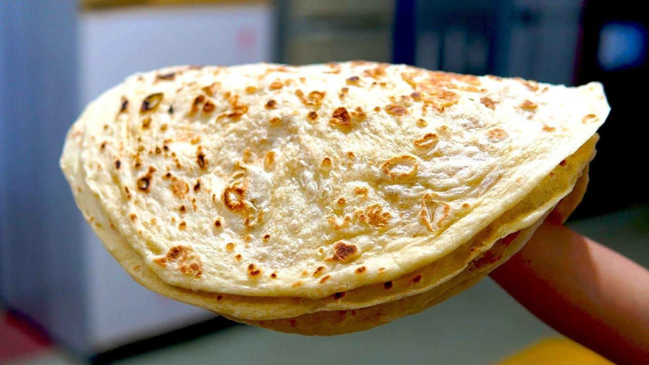 Cooking Baking Bread | #آشپزی طرز پختن نان چپه تابه (نان چپاتی ...