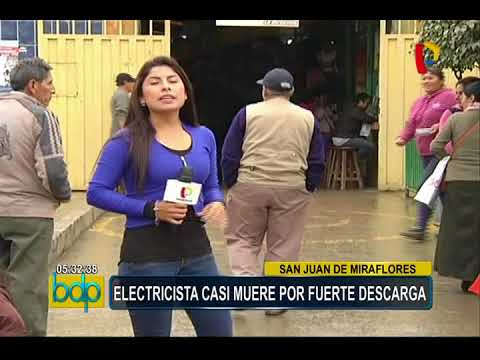 SJM: electricista casi muere tras quedar atrapado en poste de alta tensión