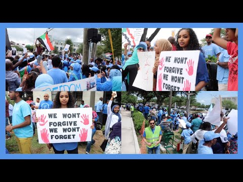 June 30 Rally for Sudan in Houston !مليونية 30 يونيو | Amena and Elias