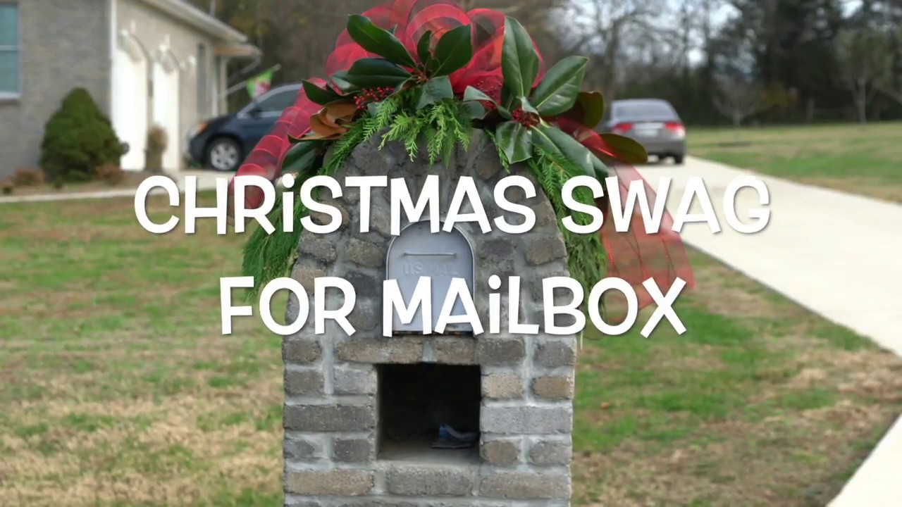 how to make a christmas swag for your mailbox - How To Make A Christmas Swag