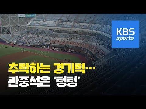 """""""이게 프로냐""""…'수준 이하 경기' 관중 떠나는 프로야구 / KBS뉴스(News)"""