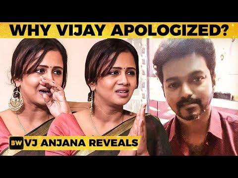 Thalapathy Phone பண்ணி SORRY கேட்டாரு - FIRST TIME VJ Anjana Reveals!   SS 83
