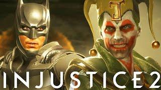 Injustice 2: All Batman Vs The Joker Intro Dialogue! - Injustice 2 The Joker Intro Dialogue
