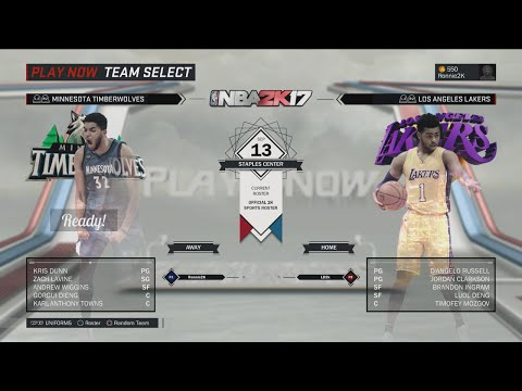 NBA 2K17 5v5 Gameplay: L.A. Lakers vs. Minnesota Timberwolves (NBA 2K17 Gameplay)