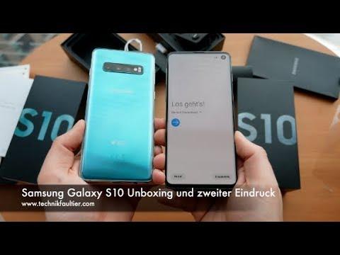Samsung Galaxy S10 Unboxing und zweiter Eindruck