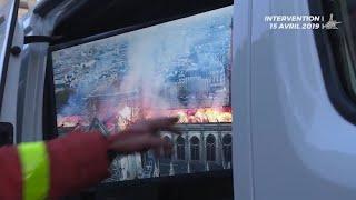Video von Löscharbeiten: So kämpfte die Pariser Feuerwehr um Notre-Dame