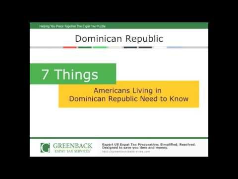 How Living in the Dominican Republic Affects Expat Taxes