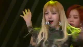 BLACK PINK (FAIL MIC) - Whistle + Playing With Fire live  Asia Artist Awards 2016