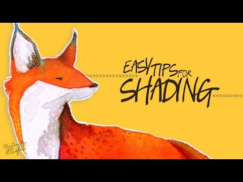 4 Easy Tips for Shading Animals (Watercolor Misfit)