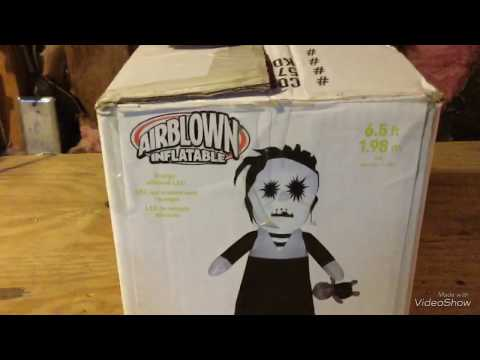 """gemmy-inflatable-6.5ft-tall-halloween-""""lifeless-girl""""-2017-review/unboxin"""
