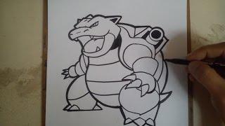 COMO DIBUJAR A BLASTOISE - POKEMON GO / how to draw blastoise - pokemon go