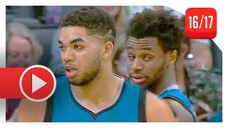 Andrew Wiggins & Karl-Anthony Towns Full Highlights vs Kings (2017.02.27) - TOO SICK!
