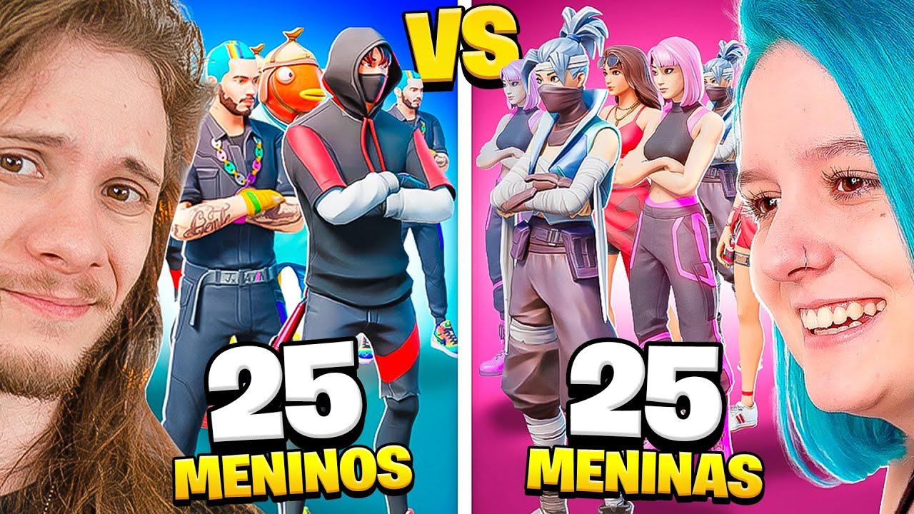 Download QUEM É MELHOR? 25 MENINOS VS 25 MENINAS NA HERO BASE!