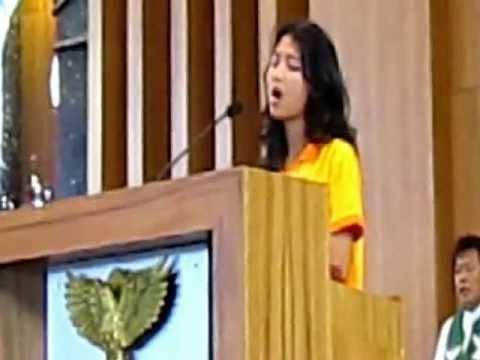 Mazmur tanggapan oleh Chrisen pd MISA KREASI MISDINAR DEKANAT I KEUSKUPAN AGUNG PALEMBANG