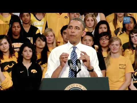 President Obama Speaks on Student Loan Interest Rates in Iowa