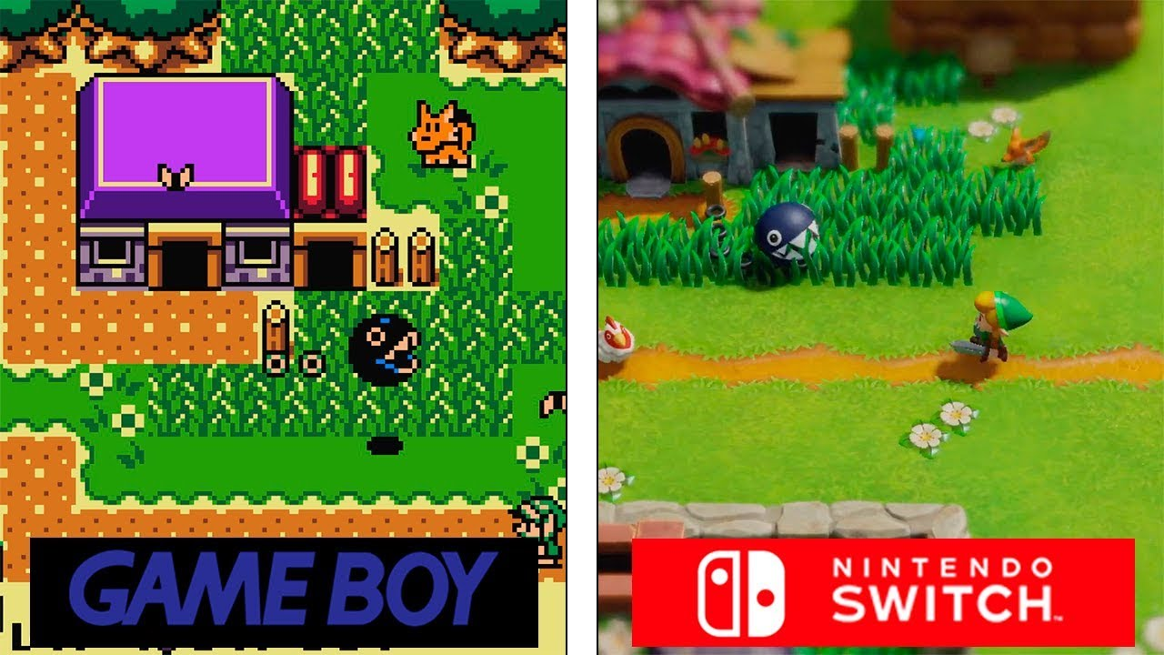 Zelda: Links Awakening Remake | Switch VS GameBoy | Trailer Comparison thumbnail