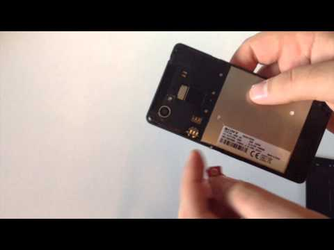 How to put sim card in Sony Xperia E3