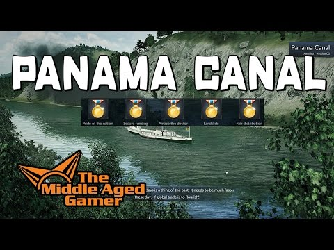 Transport Fever - America Campaign - Panama Canal - 5 Gold Medal Walk-Through