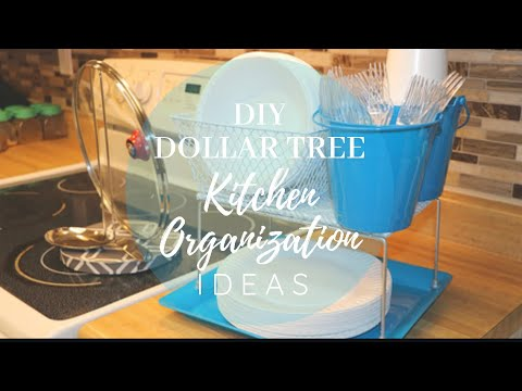 DIY DOLLAR TREE KITCHEN ORGANIZATION IDEAS