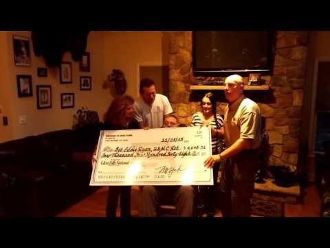 Warren County Sheriff Bud York donates unused campaign funds to Marine Sgt. Eddie Ryan