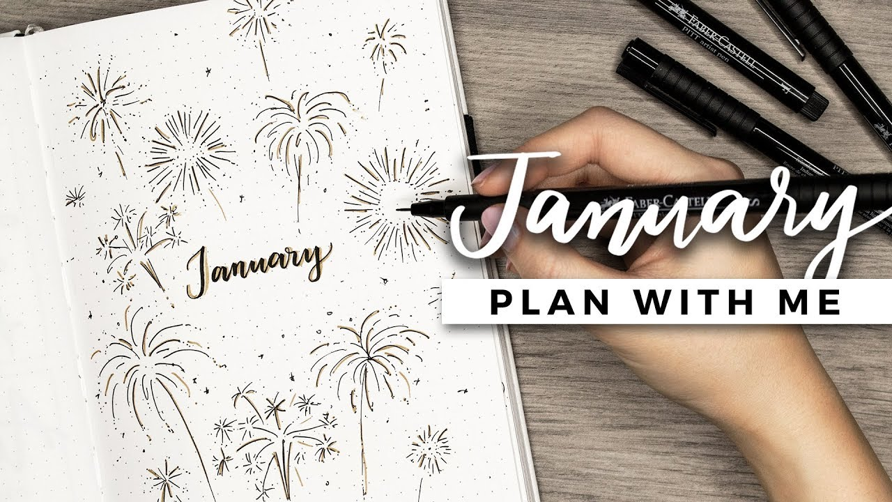 Plan With Me January 2018 Bullet Journal Setup Youtube
