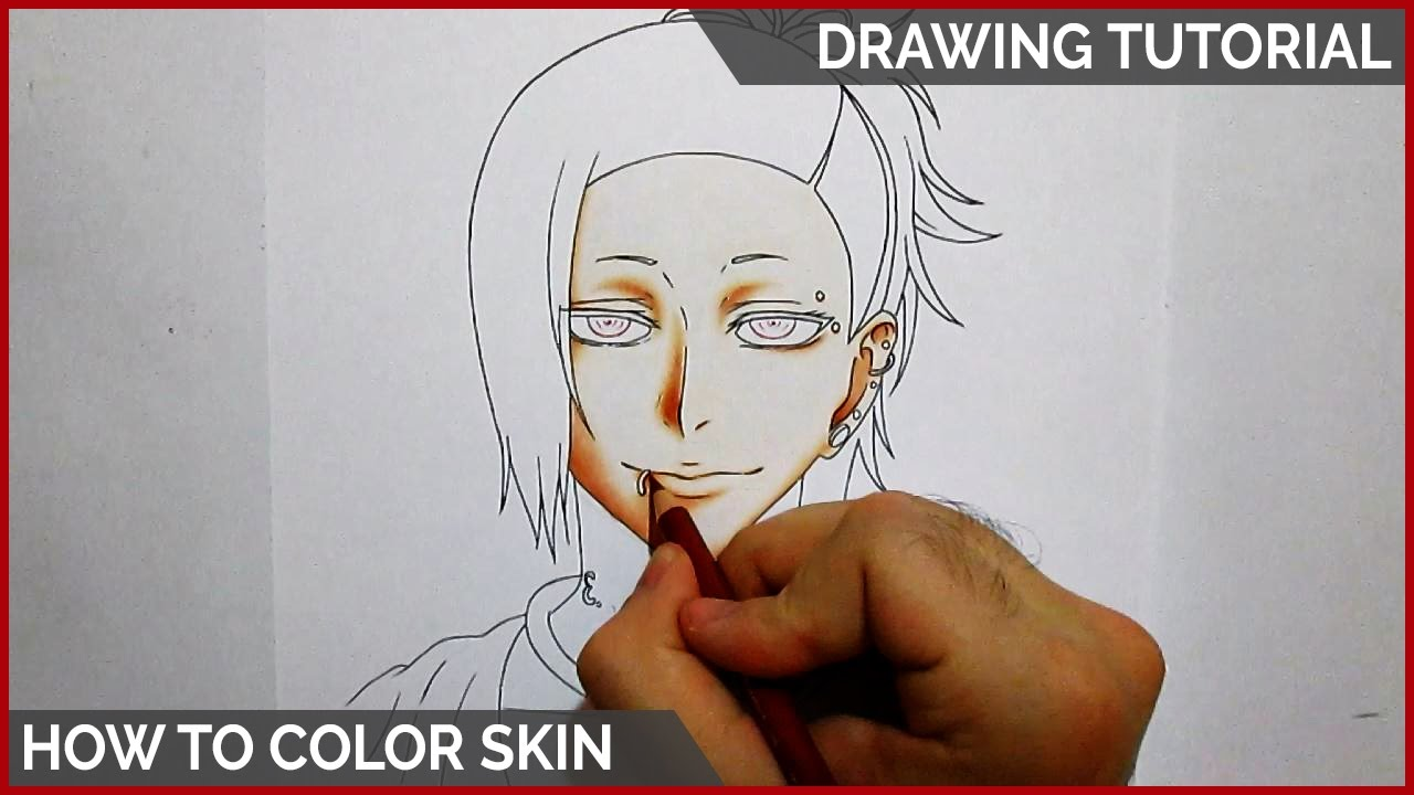 How to Color Skin Using Colored Pencils || DRAWING TUTORIAL - YouTube