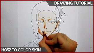 How to Color Skin Using Colored Pencils || DRAWING TUTORIAL