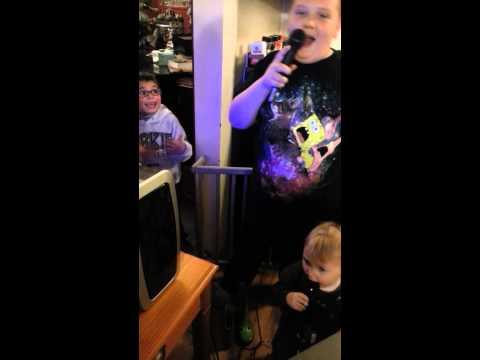 Josiah and Noah karaoke